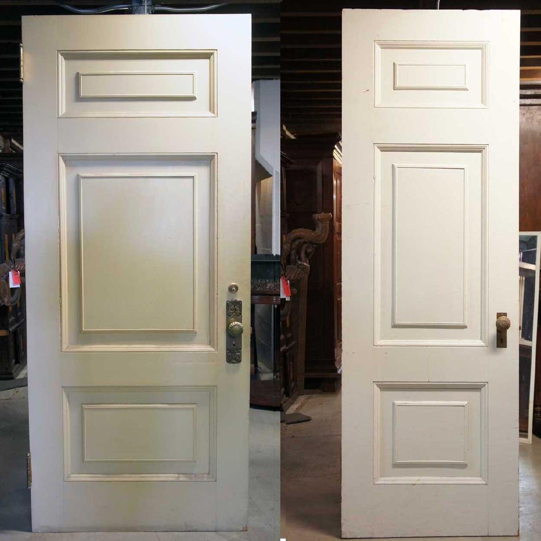 2 American Victorian Painted Pine/Poplar Single Doors