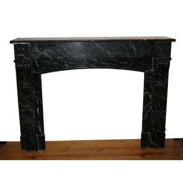 French Empire Green Marble Fireplace Surround