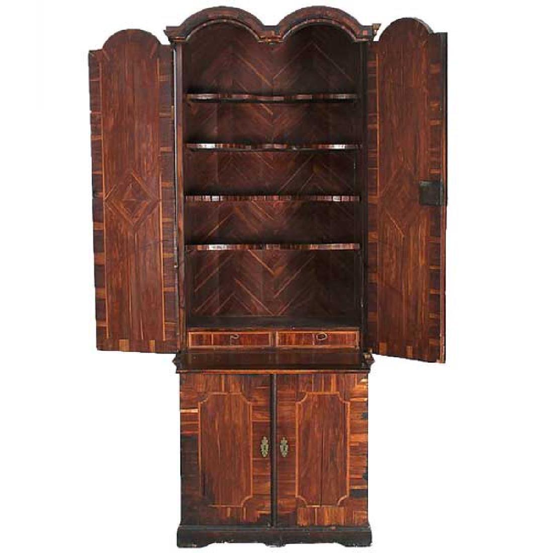 German Baroque Parquetry Palisander Secretaire Cabinet - 2