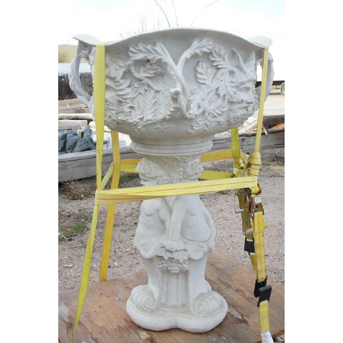 Marble Bacchus Figural Garden Fountain