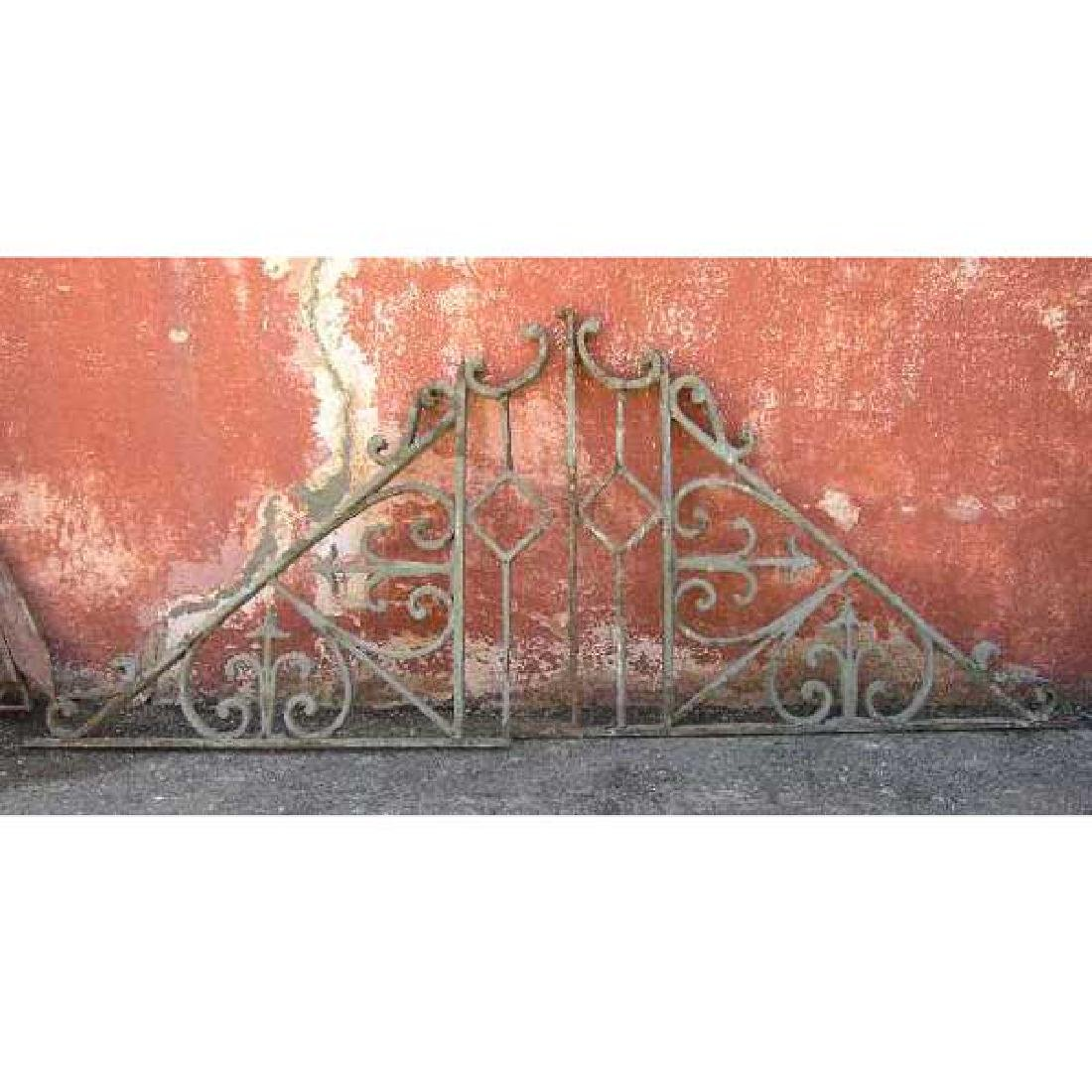 Pair of French Colonial Wrought Iron Brackets