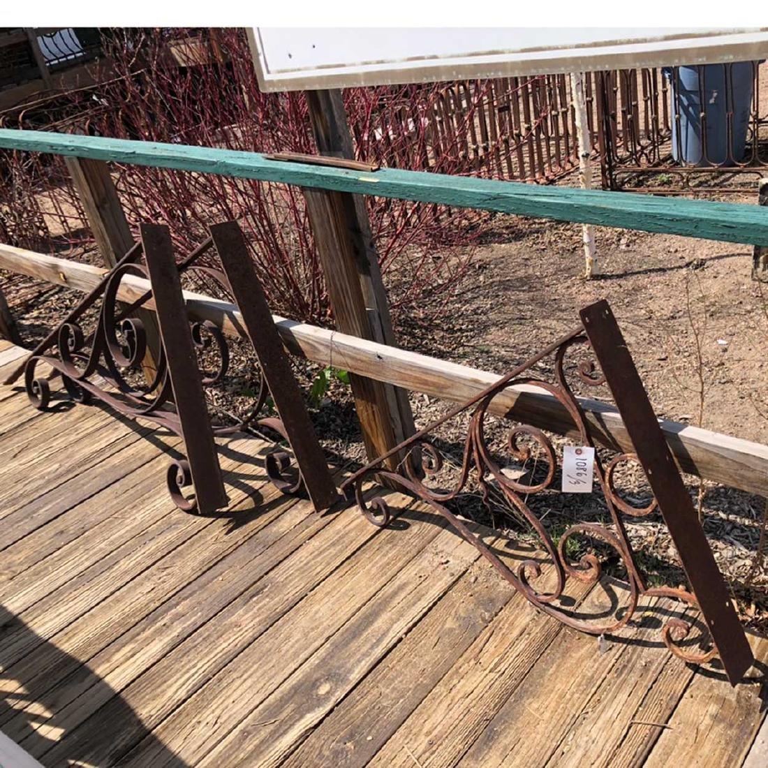 3 French Wrought Iron Brackets