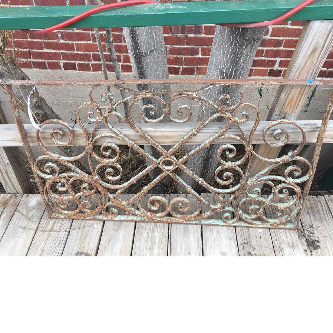 French Colonial Wrought Iron Panel