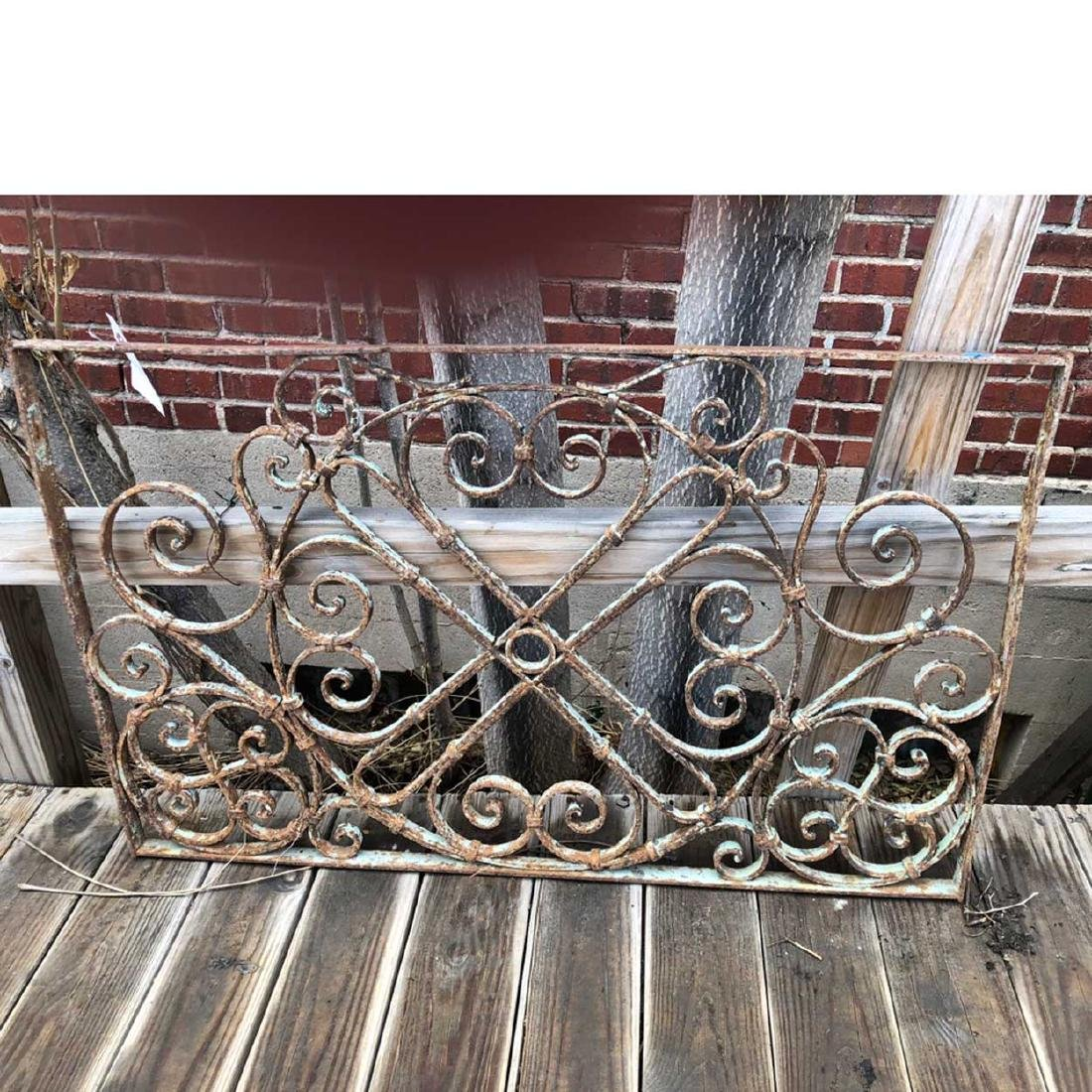 French Colonial Wrought Iron Panel - 2