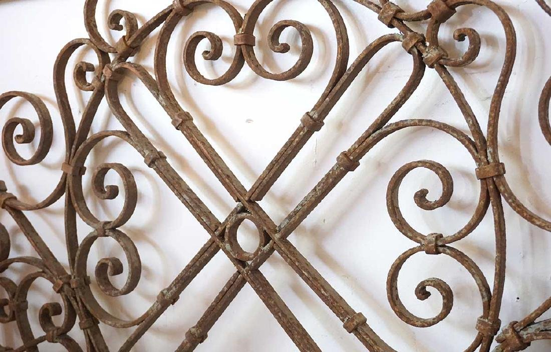 French Colonial Wrought Iron Panel - 3
