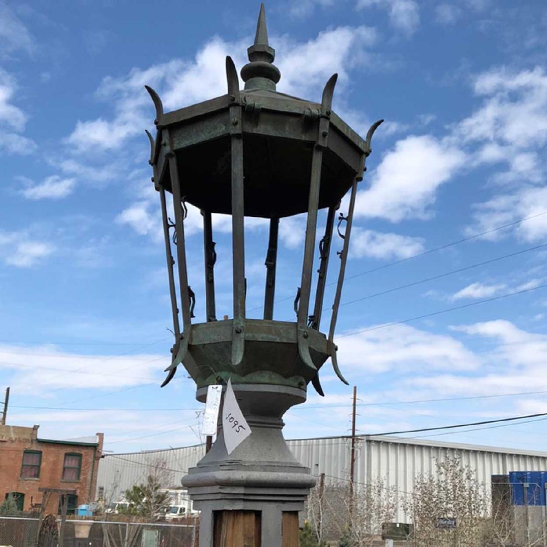 American Iron, Bronze Street Light Post Lantern