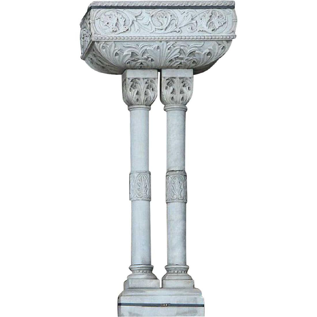 Scandinavian Renaissance Revival Marble Wall Fountain