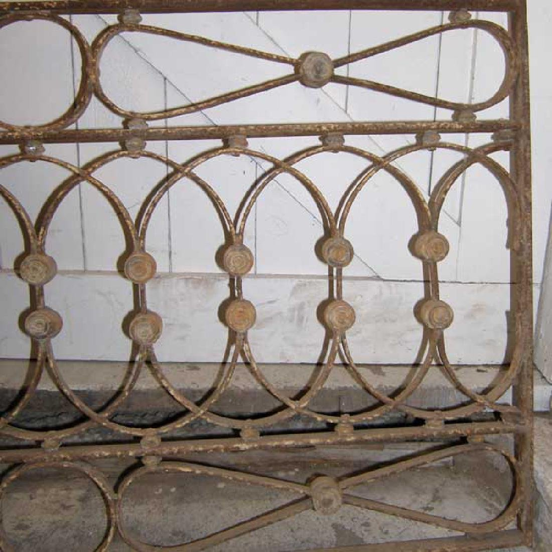 French Wrought Iron & Zinc Arched Transom Grille - 3