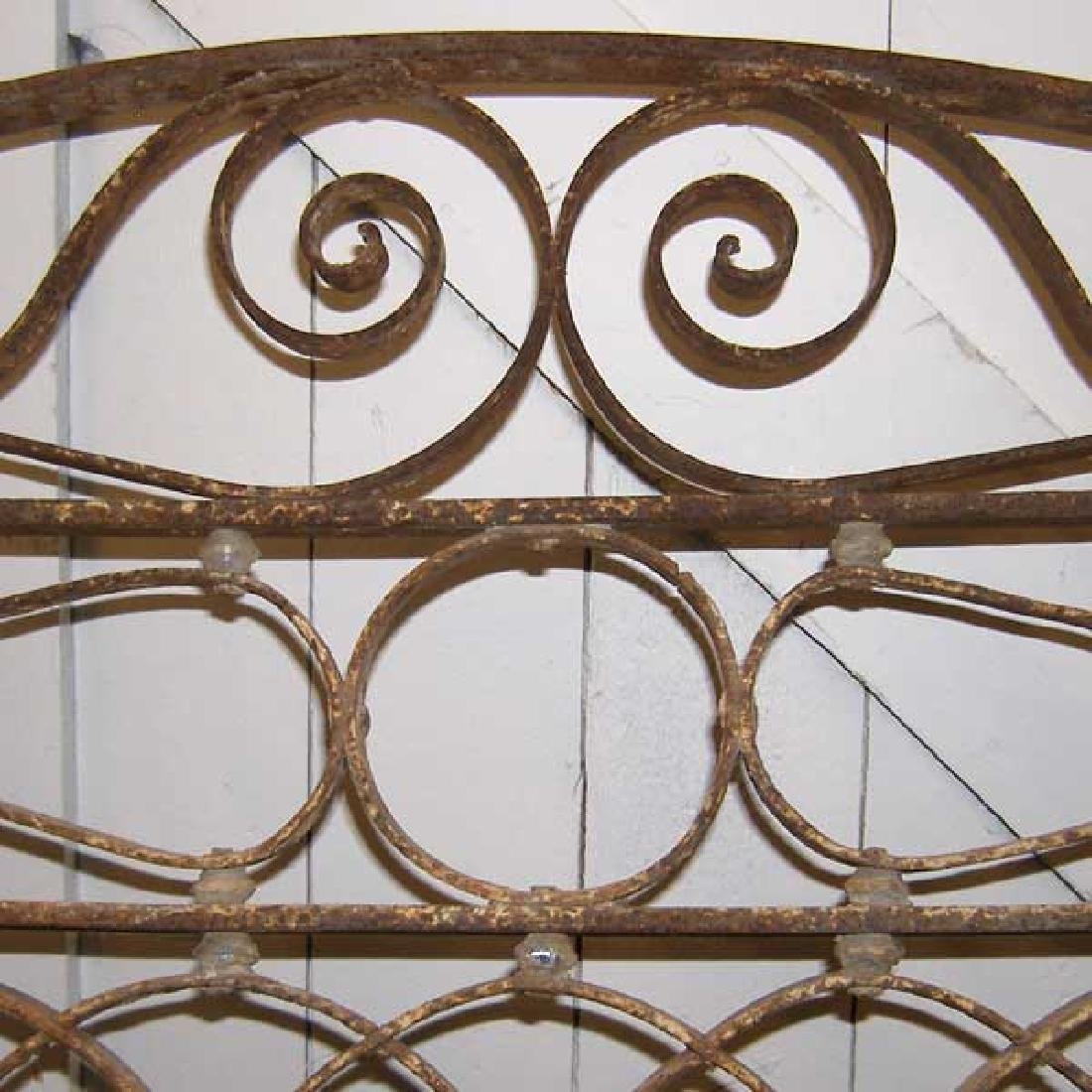 French Wrought Iron & Zinc Arched Transom Grille - 4