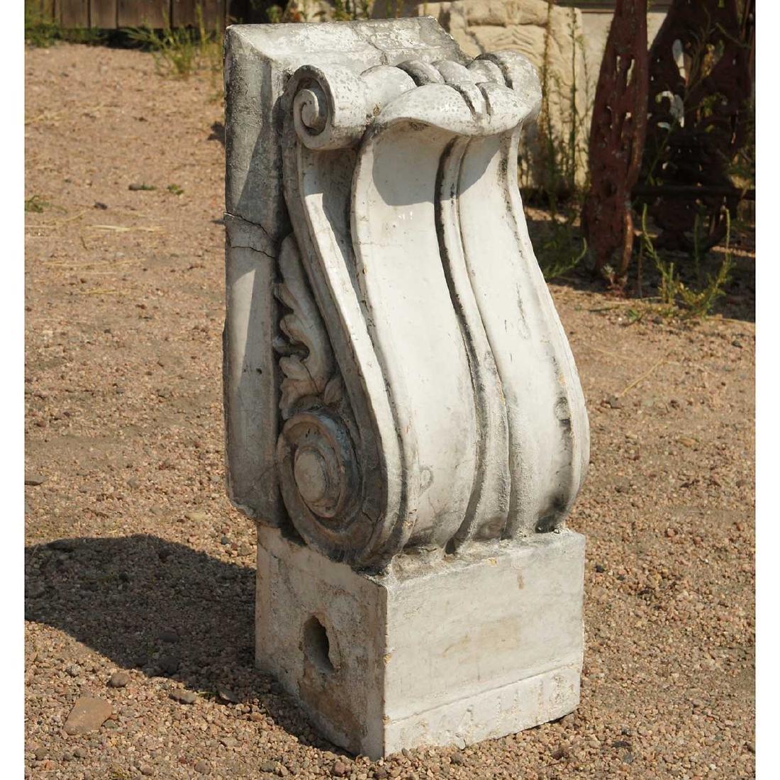 3 American Neoclassical Terracotta Scroll Brackets - 5