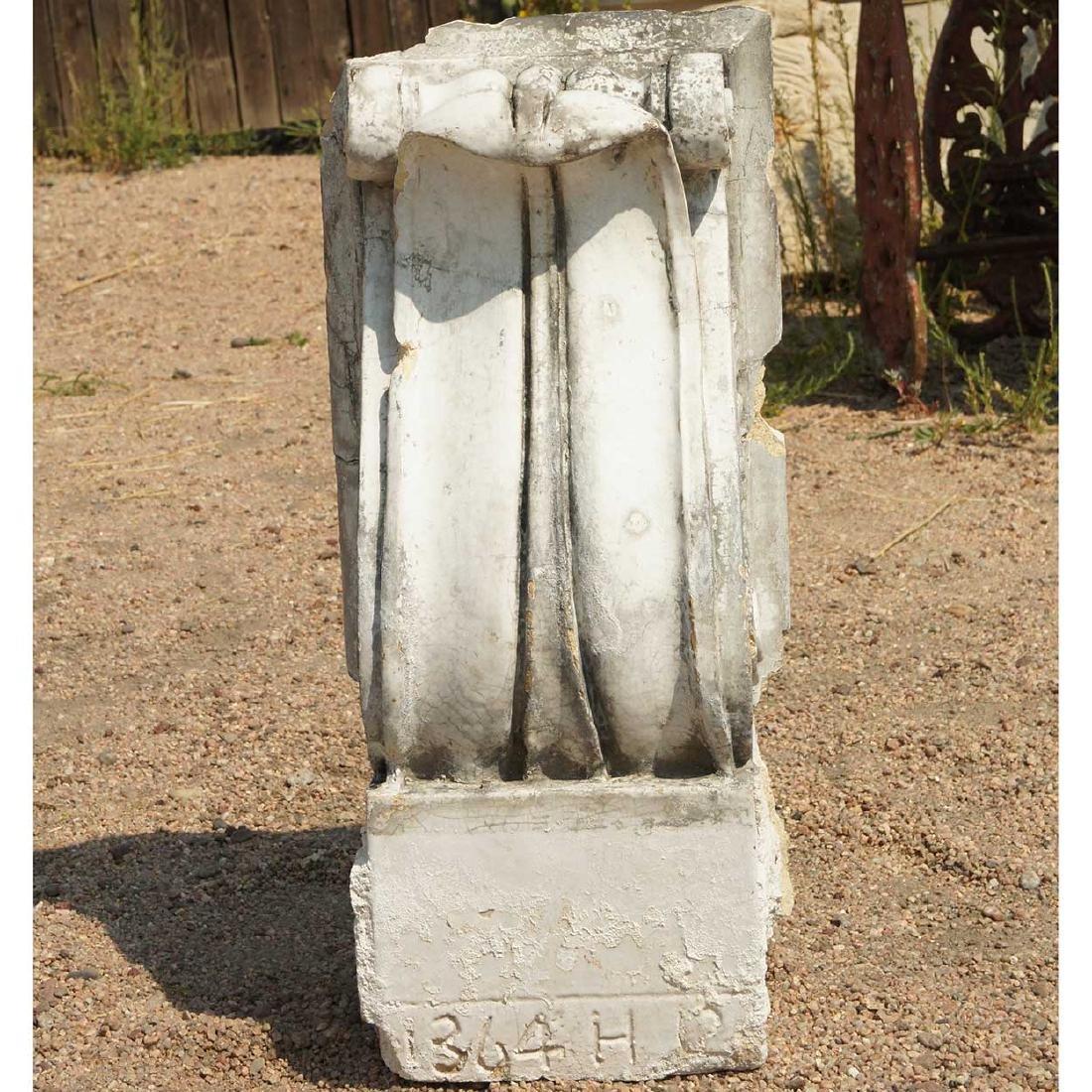 3 American Neoclassical Terracotta Scroll Brackets - 9