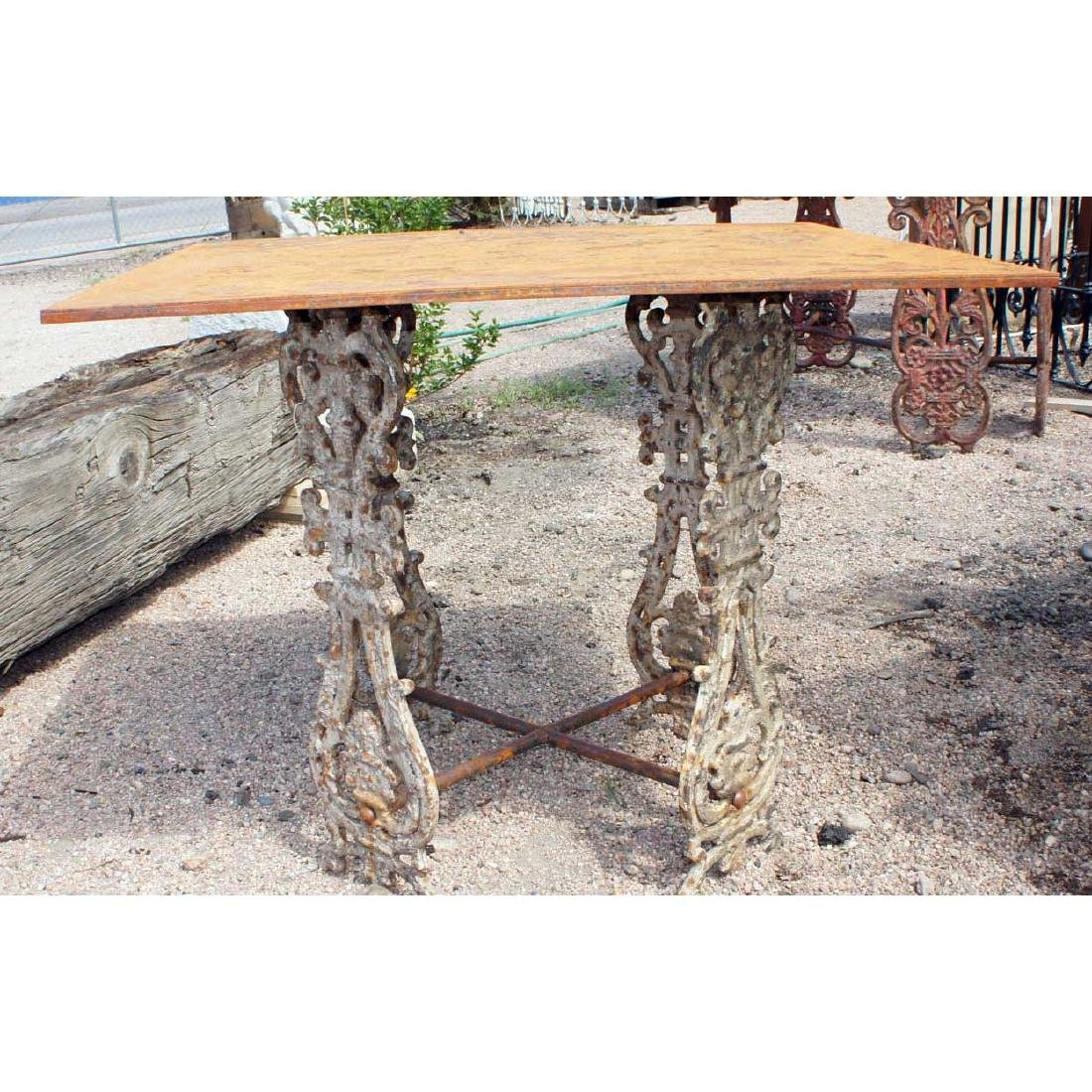 English Painted Cast Iron Balusters as Table Base