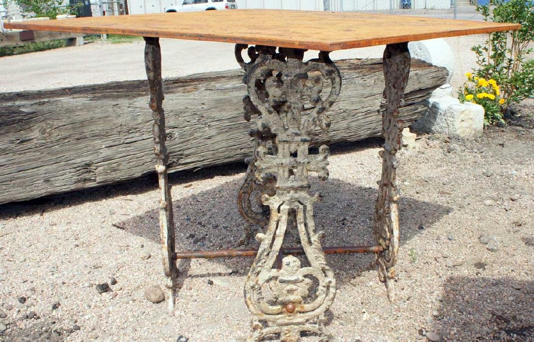 English Painted Cast Iron Balusters as Table Base - 2