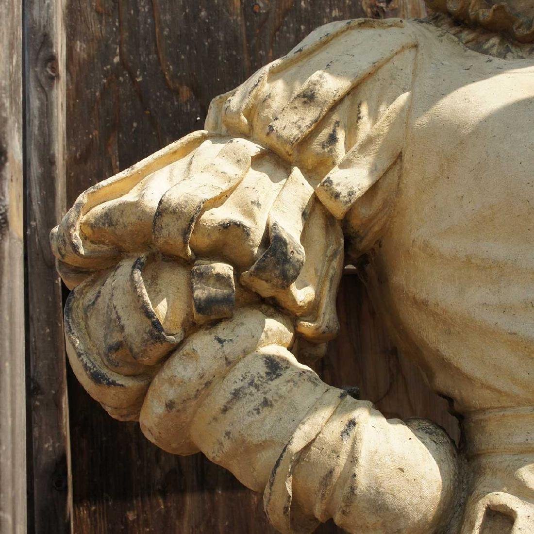 Important Pair ALEXANDER CALANDRELLI Lansquenet Statues - 10
