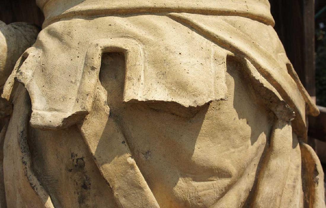 Important Pair ALEXANDER CALANDRELLI Lansquenet Statues - 11