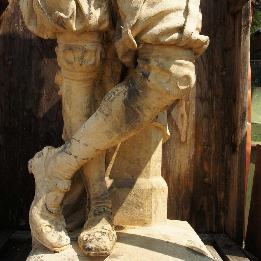 Important Pair ALEXANDER CALANDRELLI Lansquenet Statues - 12