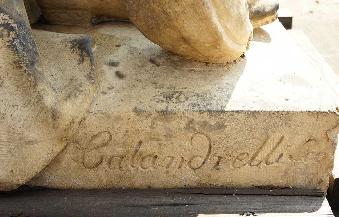 Important Pair ALEXANDER CALANDRELLI Lansquenet Statues - 14