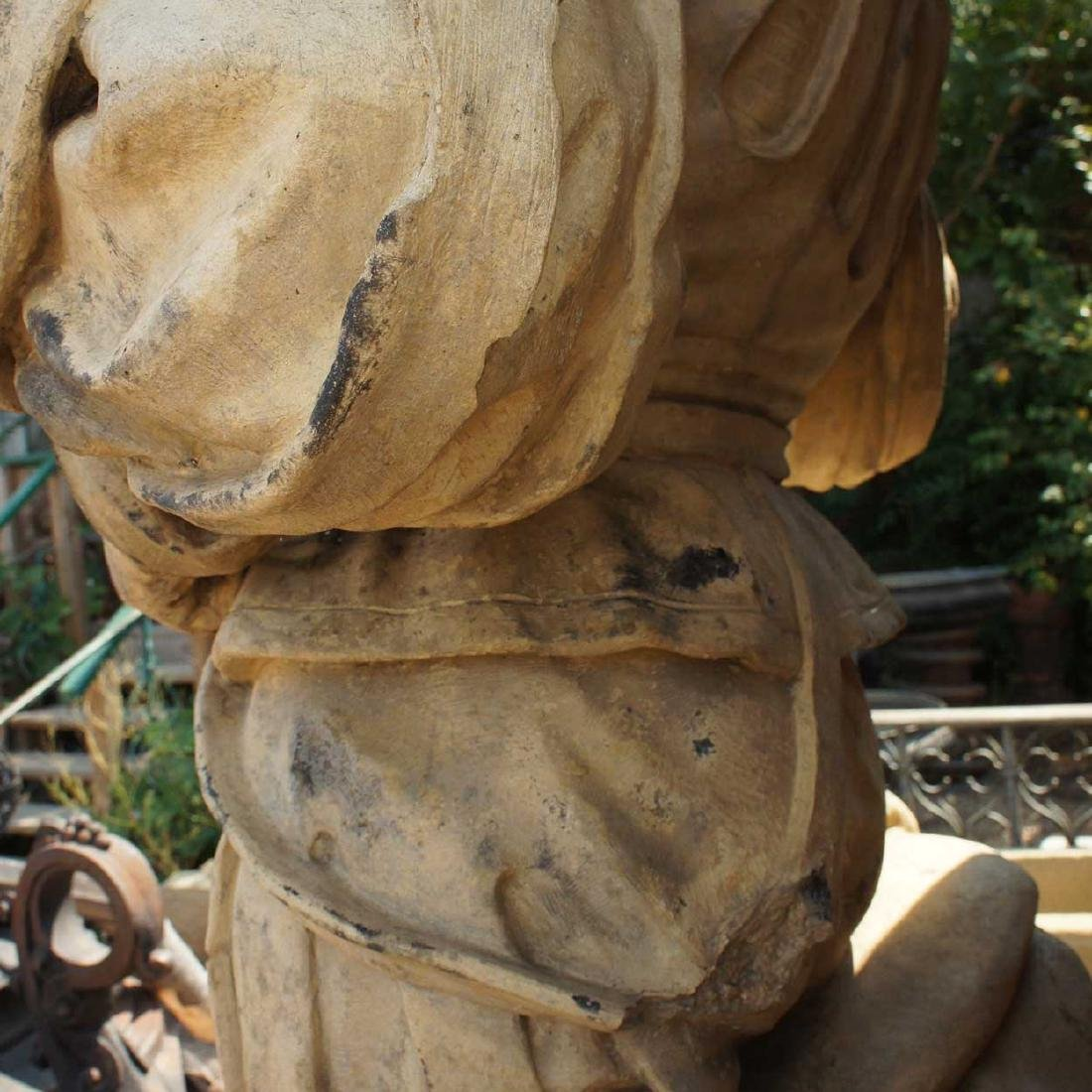 Important Pair ALEXANDER CALANDRELLI Lansquenet Statues - 15