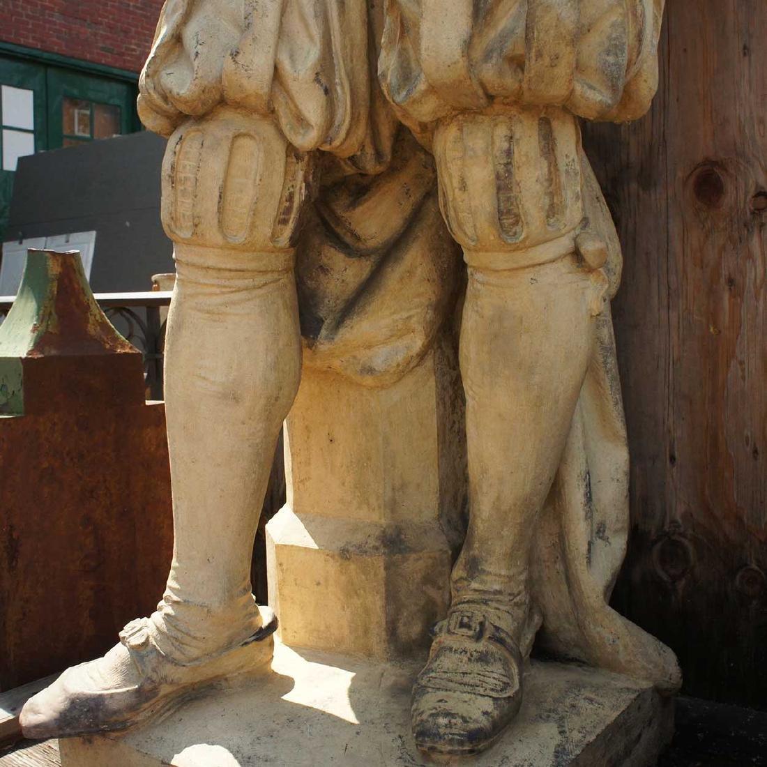 Important Pair ALEXANDER CALANDRELLI Lansquenet Statues - 16