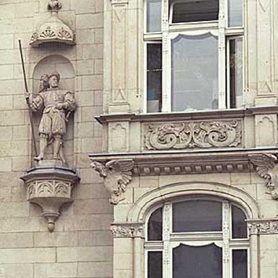 Important Pair ALEXANDER CALANDRELLI Lansquenet Statues - 18