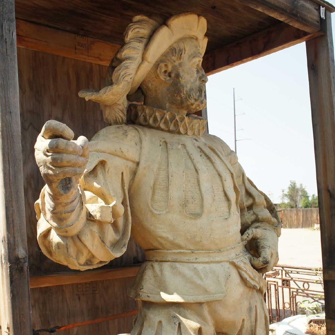 Important Pair ALEXANDER CALANDRELLI Lansquenet Statues - 3