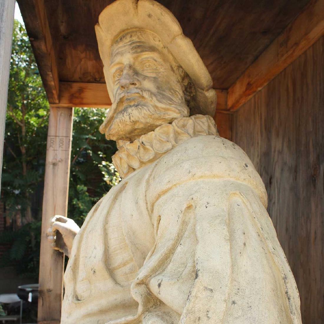 Important Pair ALEXANDER CALANDRELLI Lansquenet Statues - 4