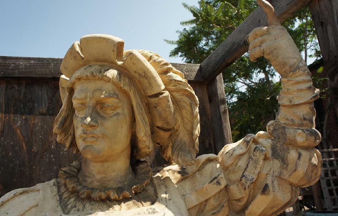 Important Pair ALEXANDER CALANDRELLI Lansquenet Statues - 9