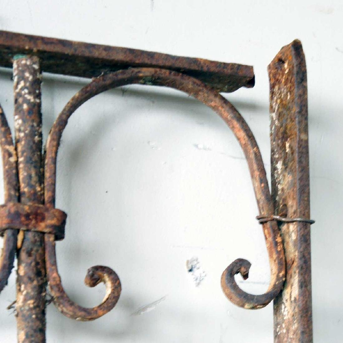 2 Spanish Wrought Iron Window Grilles - 2