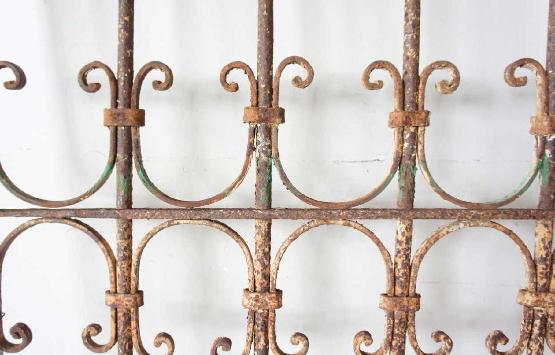 2 Spanish Wrought Iron Window Grilles - 3