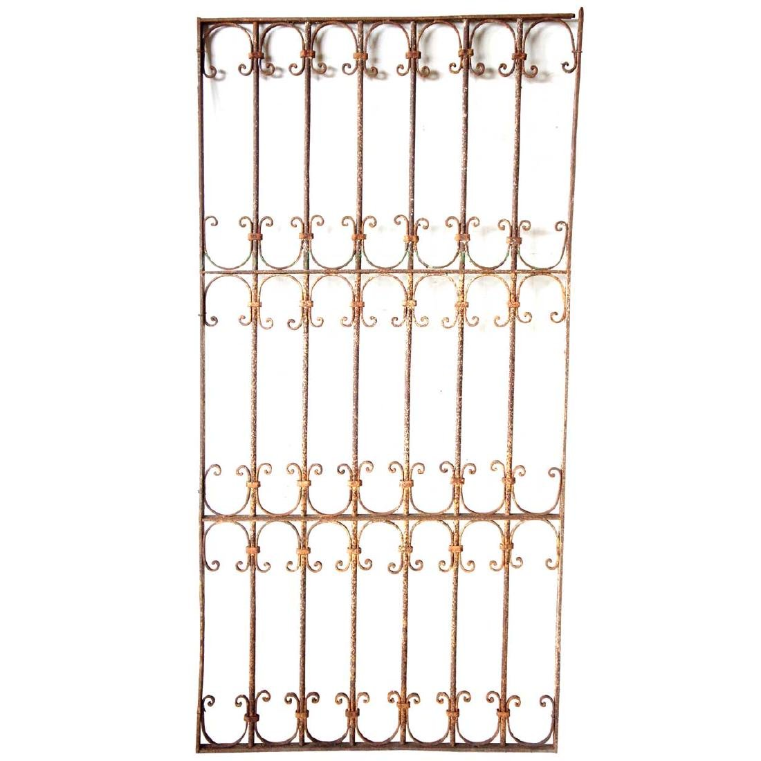 2 Spanish Wrought Iron Window Grilles - 5