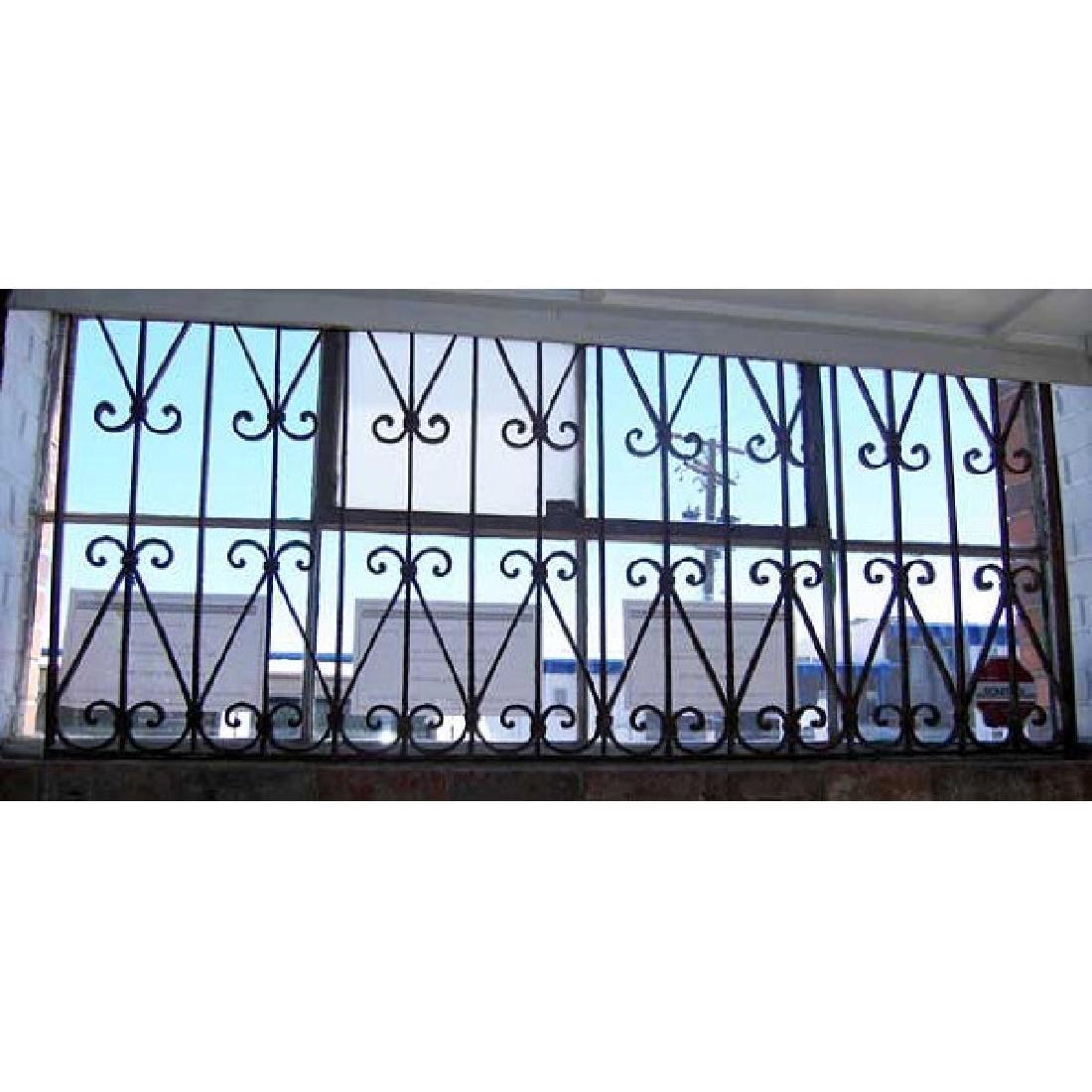 Spanish Wrought Iron Window Grille Panel