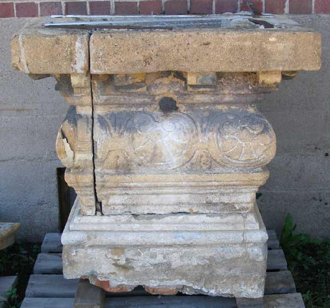 Large Rare French Village Limestone Covered Well Head - 2