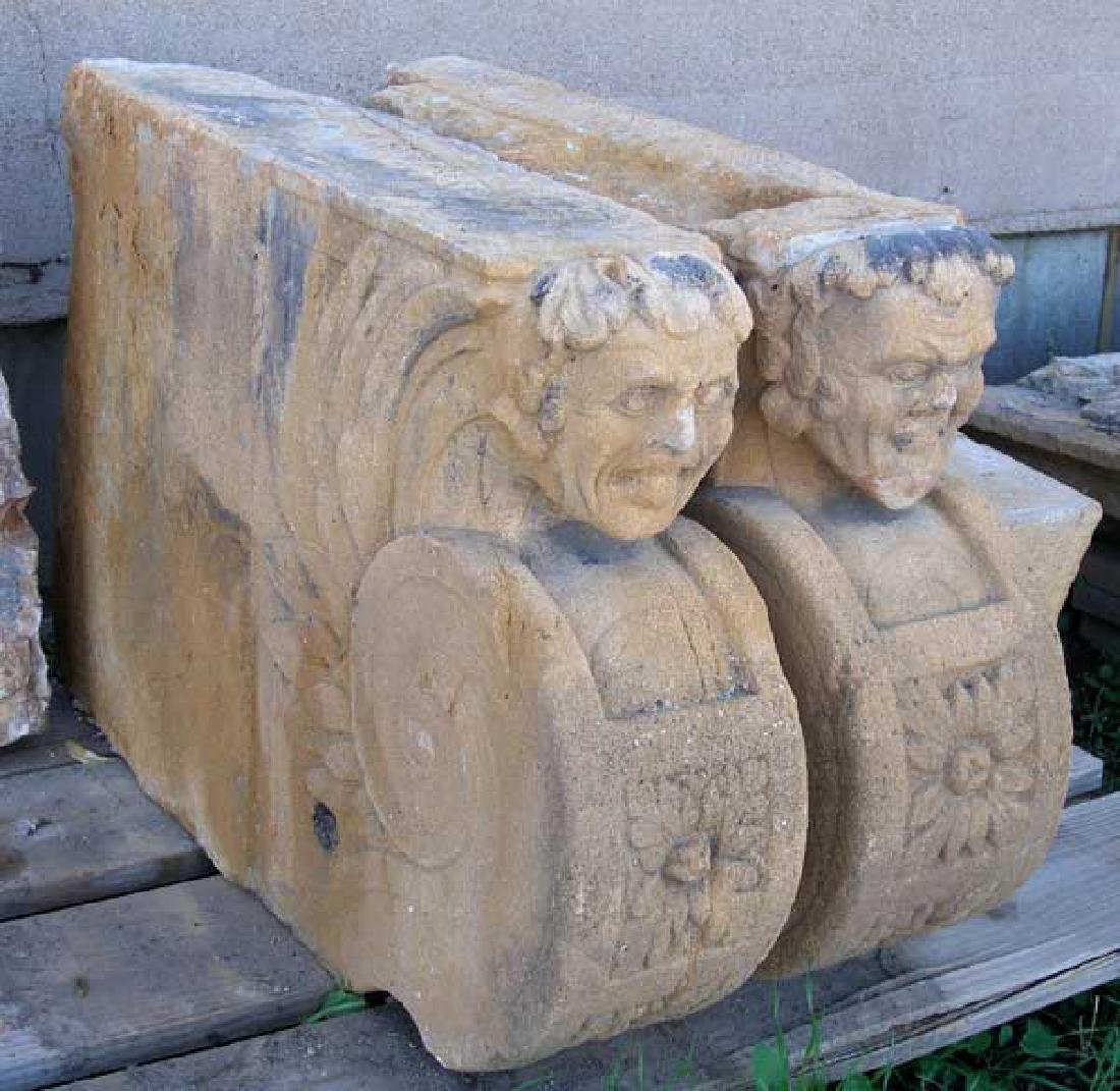 Large Rare French Village Limestone Covered Well Head - 5