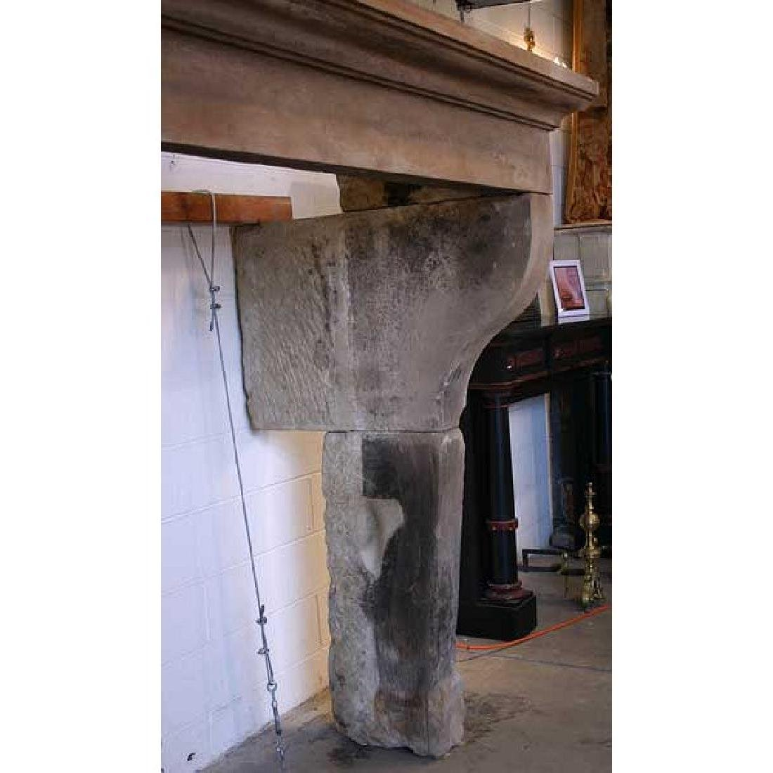 French Louis XIII Style Limestone Fireplace Surround - 5