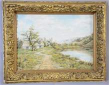 Country Landscape Oil on Canvas