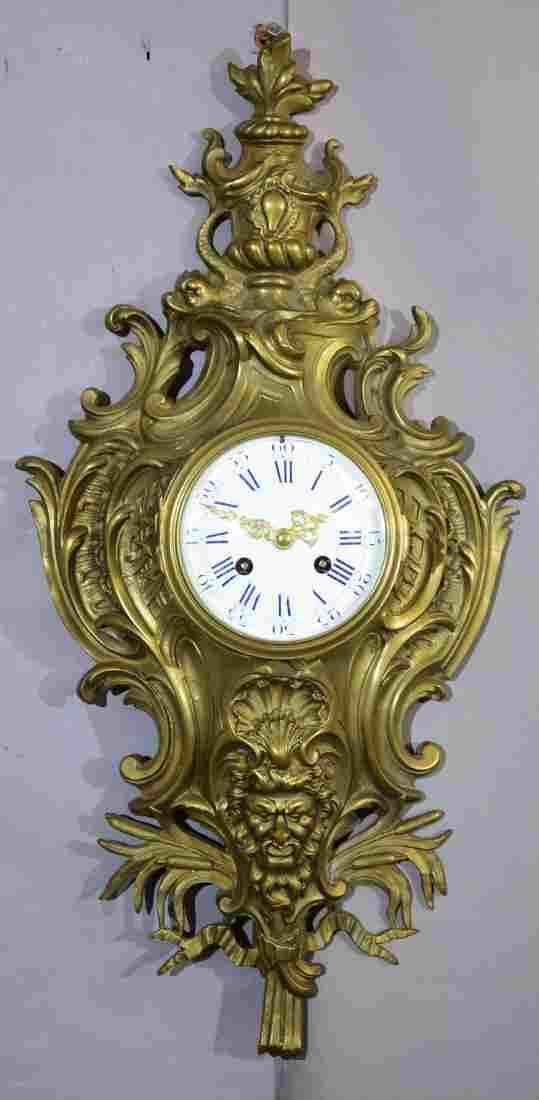 French Bronze Louis XVI Cartel Clock