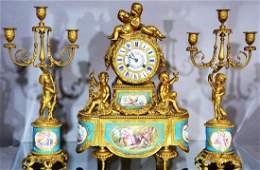 French Bronze Louis XVI Serves 3 Piece Set