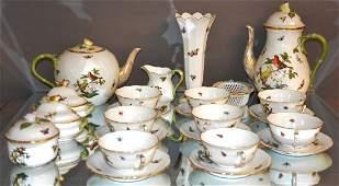 Herend Rothschild Bird 16 Piece Tea Set