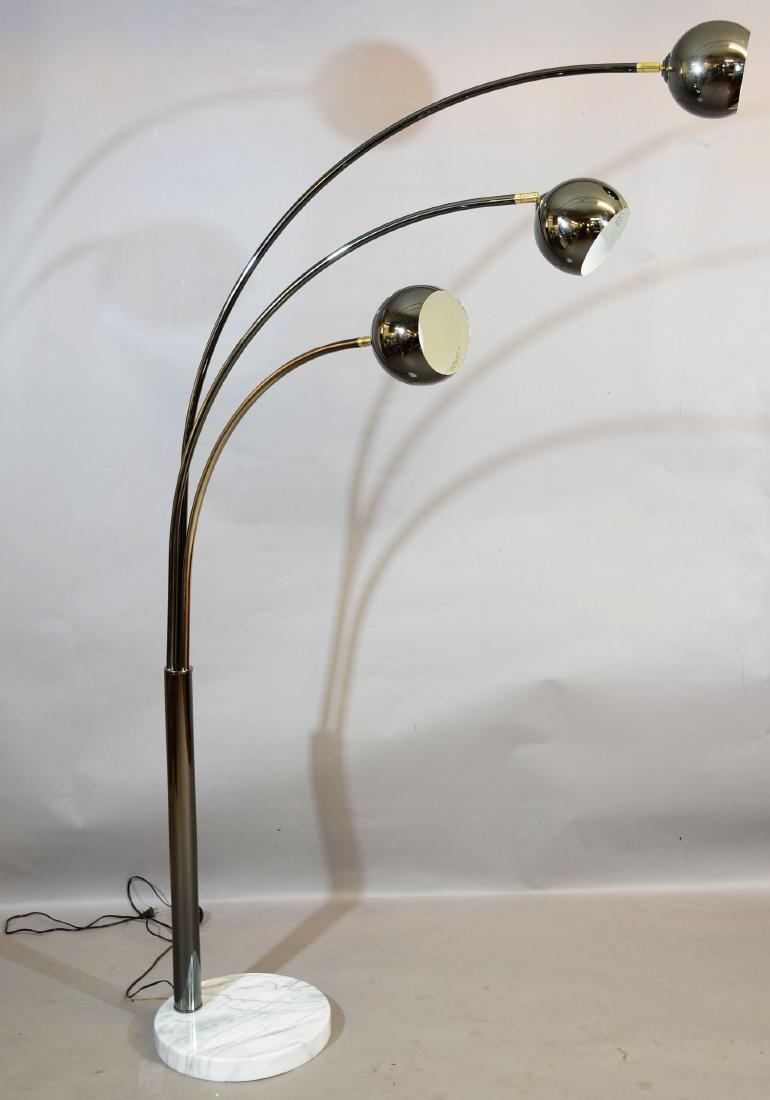Mid-Century Modern Triple Arc Floor Lamp