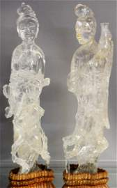 Important Rock Crystal Guanyin Statues