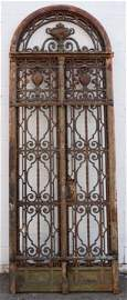 French Louis XVI Style Wrought Iron Entry Door