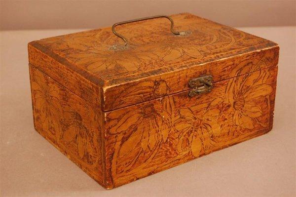 7: Folk Art Dresser Glove Box
