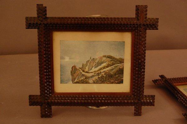9: 3 Folk Art Frames and early prints
