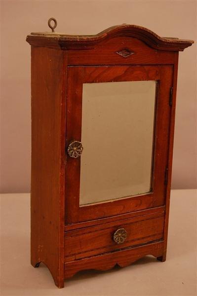 12: Victorian Oak Salesmans Sample Armoire