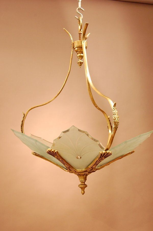 91: French Art Deco Style Chandelier