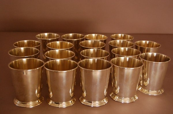 55: Set of 18 Towle Sterling Silver Goblets, signed on