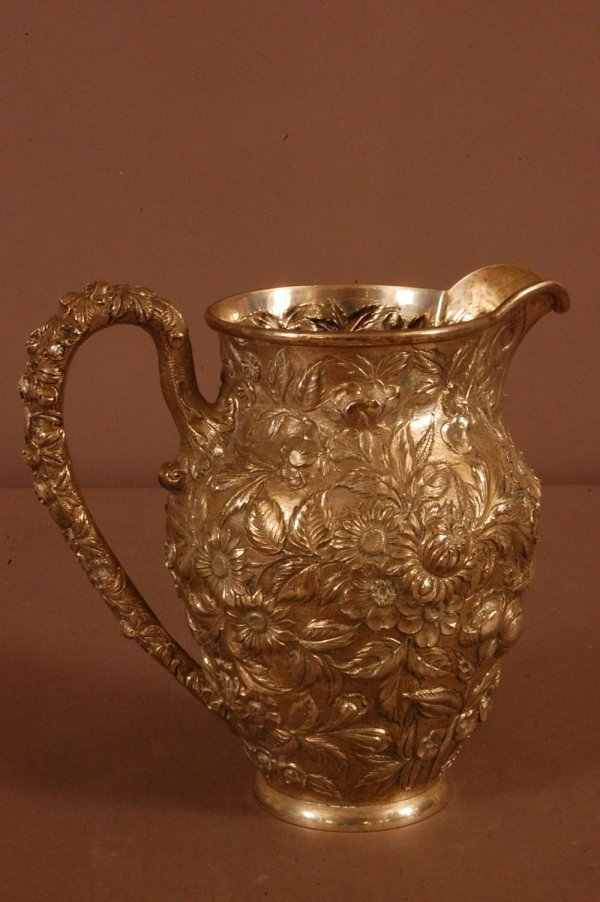 138: S.Kirk and Sons Ornate Repousse and Chased Water P