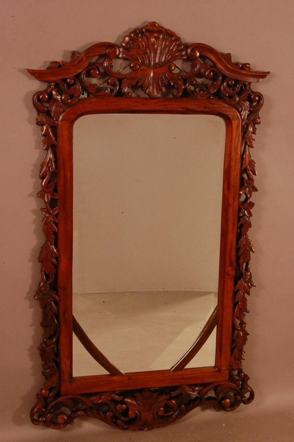 "229: Victorian Carved Hall Mirror   54""H X 31 1/2""L"