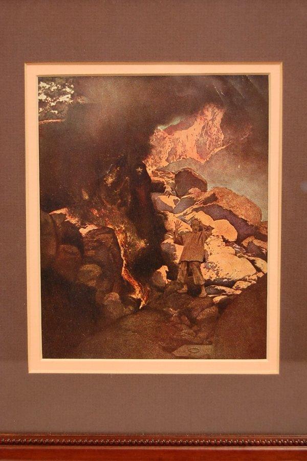 """9: """"Alladin"""" Maxfield Parrish BookPlate Arabian Nights"""