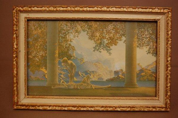 "10: ""DayBreak"" Maxfield Parrish Print House of Art Fram"